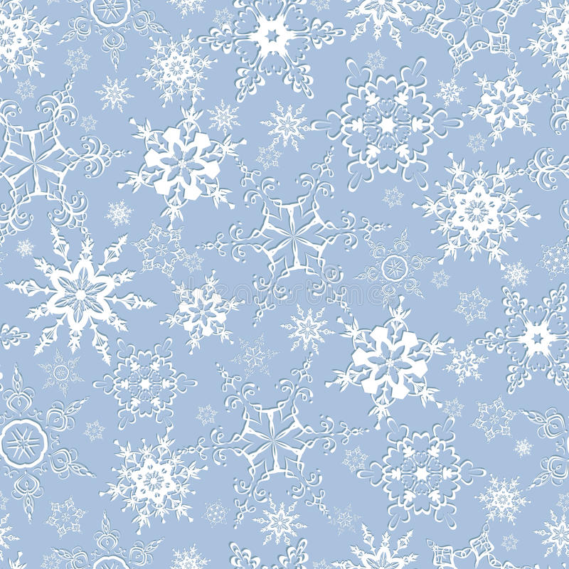 Download Seamless Pattern With Ornate Snowflakes Stock Vector    Illustration Of Abstraction, Abstract: 43142043