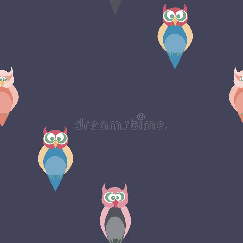 Seamless pattern with owls. stock images
