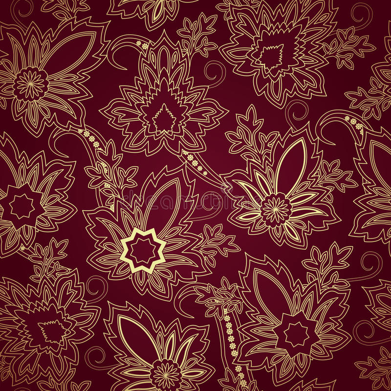 Seamless pattern with paisleyTraditional oriental filigree ornament. Seamless pattern with paisley.FLoral background.Traditional oriental filigree ornament vector illustration