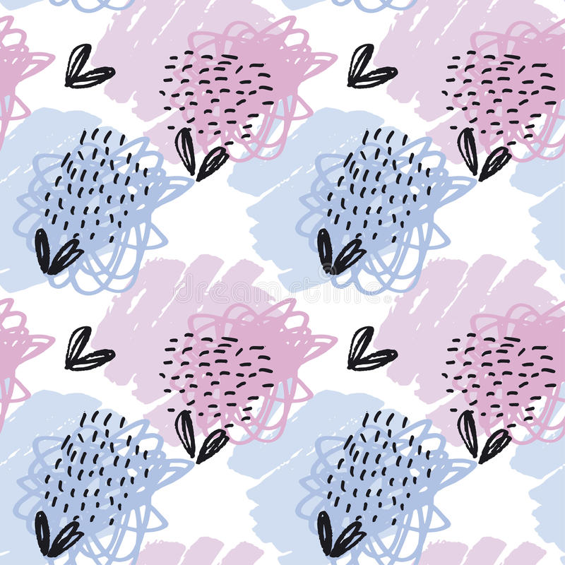 Seamless pattern pastel color wallpaper. v vector illustration