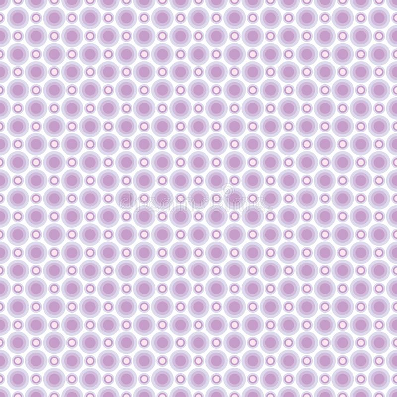 Seamless pattern of pastel light lilac circles. Background for fabrics, wallpapers, coatings, prints and designs. EPS file. Vector - the template will fill in stock illustration