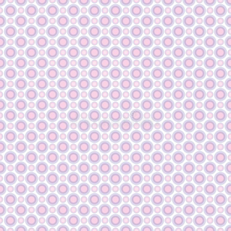 Seamless pattern of pastel lilac and pink circles. Background for fabrics, wallpapers, coatings, prints and designs. EPS file. Vector - the template will fill stock illustration