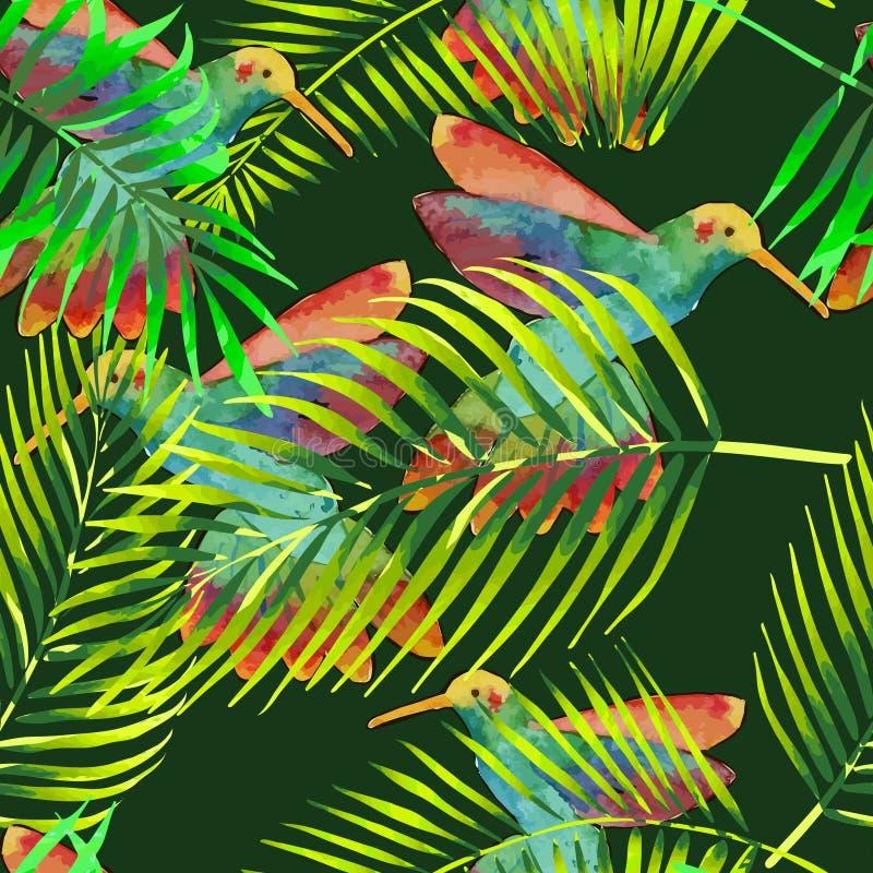Seamless pattern with pastel pink flamingos. stock illustration
