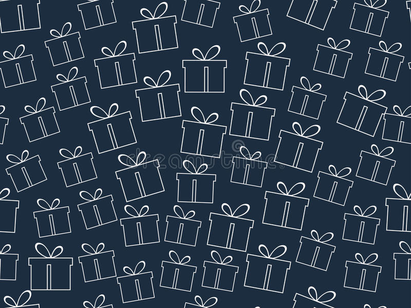 Seamless pattern. The pattern of gift boxes. vector illustration