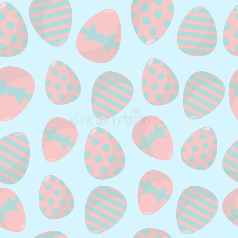 Easter eggs seamless vector pattern. Packaging, wrapping, background design. royalty free illustration