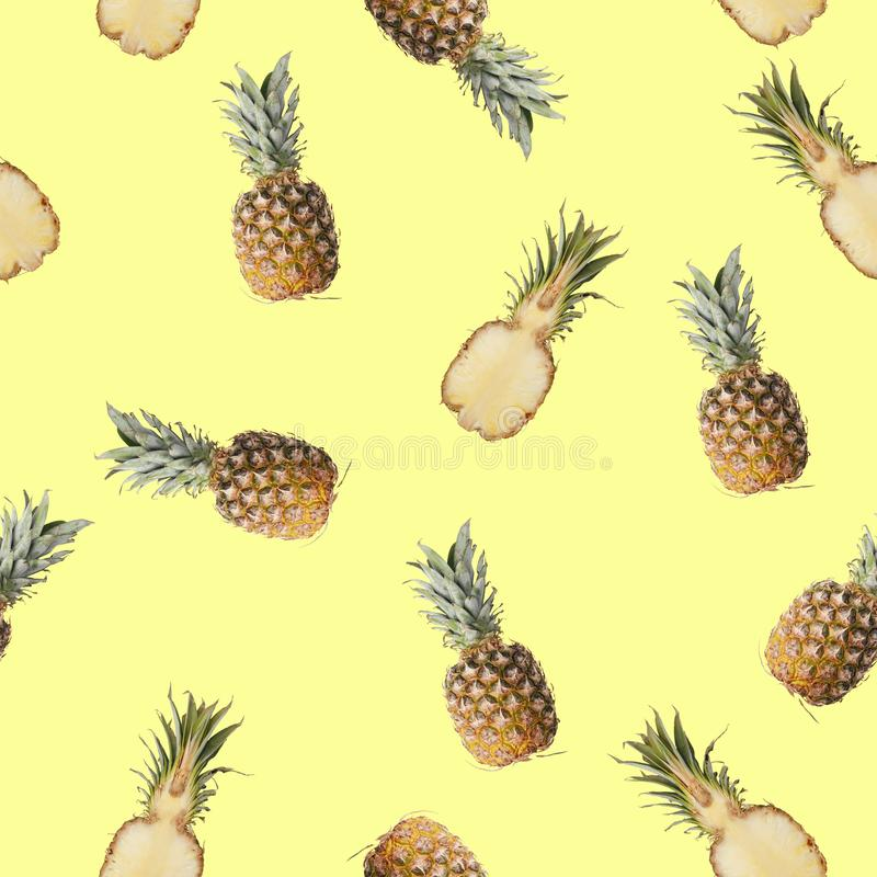 Seamless pattern with a picture of lemon, lime and mint royalty free stock photos