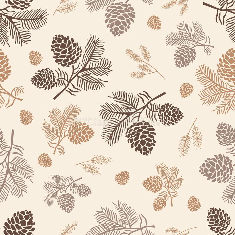Free Seamless Pattern Pine Cone Stock Photos - 157582453