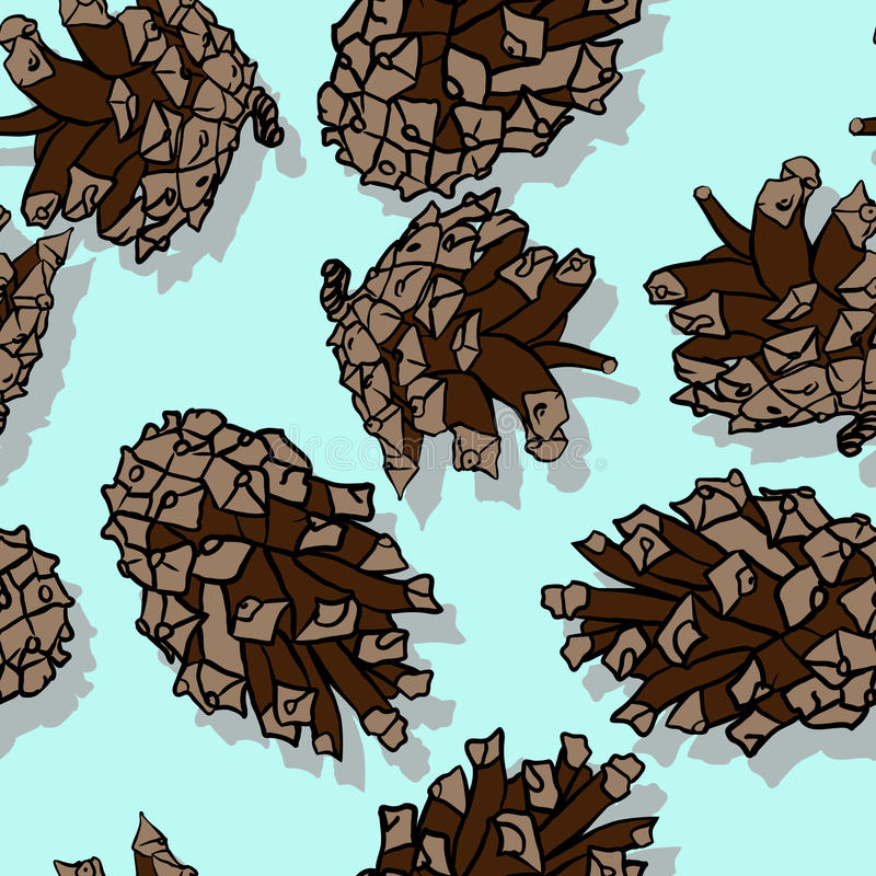 Download Seamless Pattern With Pine Cones Stock Vector - Illustration: 33512718