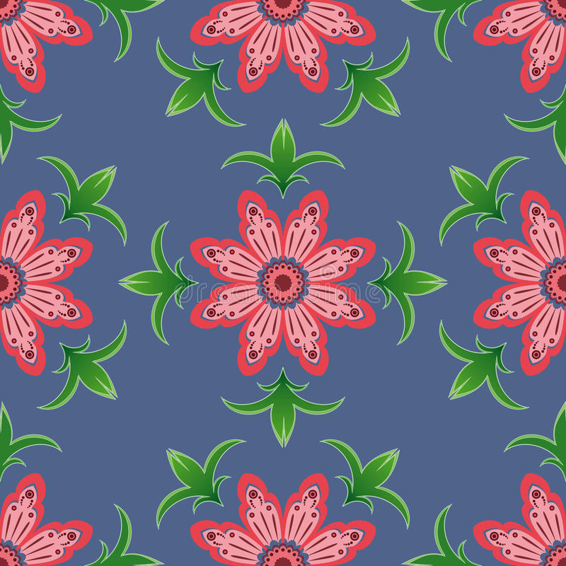 Seamless pattern with pink flowers royalty free stock photos