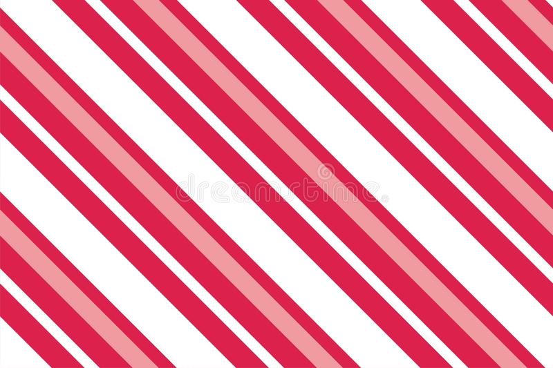 Seamless pattern. Pink-red Stripes on white background. Striped diagonal pattern For printing on fabric, paper, wrapping royalty free illustration
