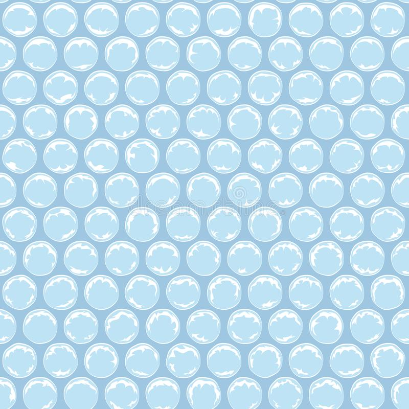 Seamless pattern with plastic bubbles, packaging bubble wrap. Colored background. vector illustration