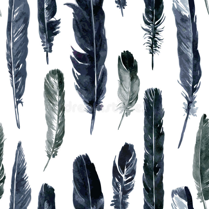 Seamless pattern with plumes royalty free illustration