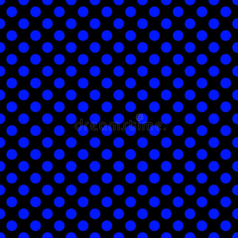 Seamless pattern pois, dot, pattern, background, black, grid, blue, seamless, pois, print, repeating, clothing, design vector illustration