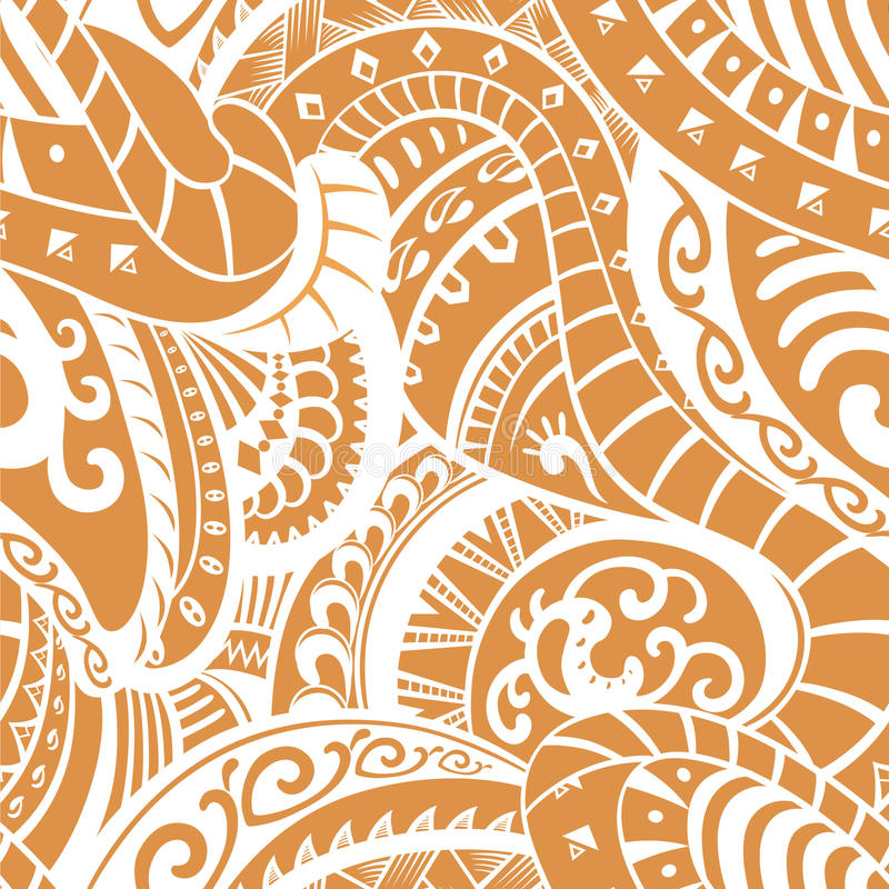 Seamless Pattern In Polynesian Style Stock Illustration ...