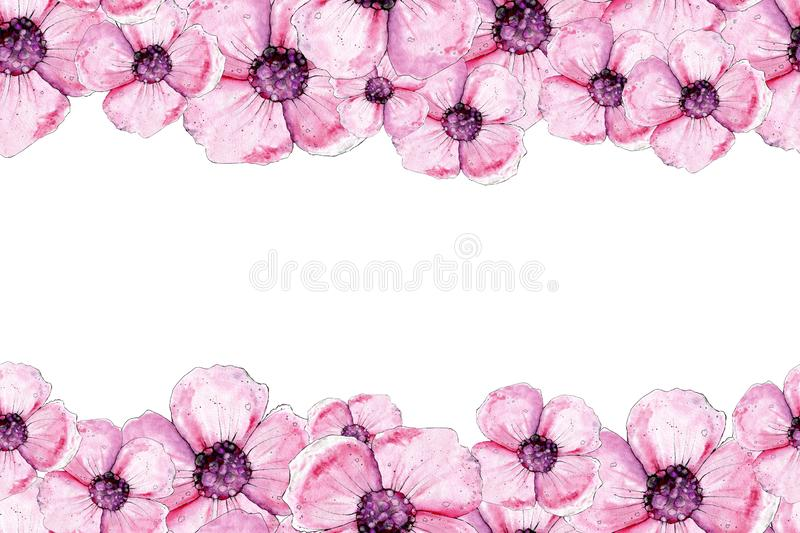 Seamless pattern with poppy flowers. Design of backgrounds, patterns, packaging, fabric, wallpaper, wrappers, bedding vector illustration