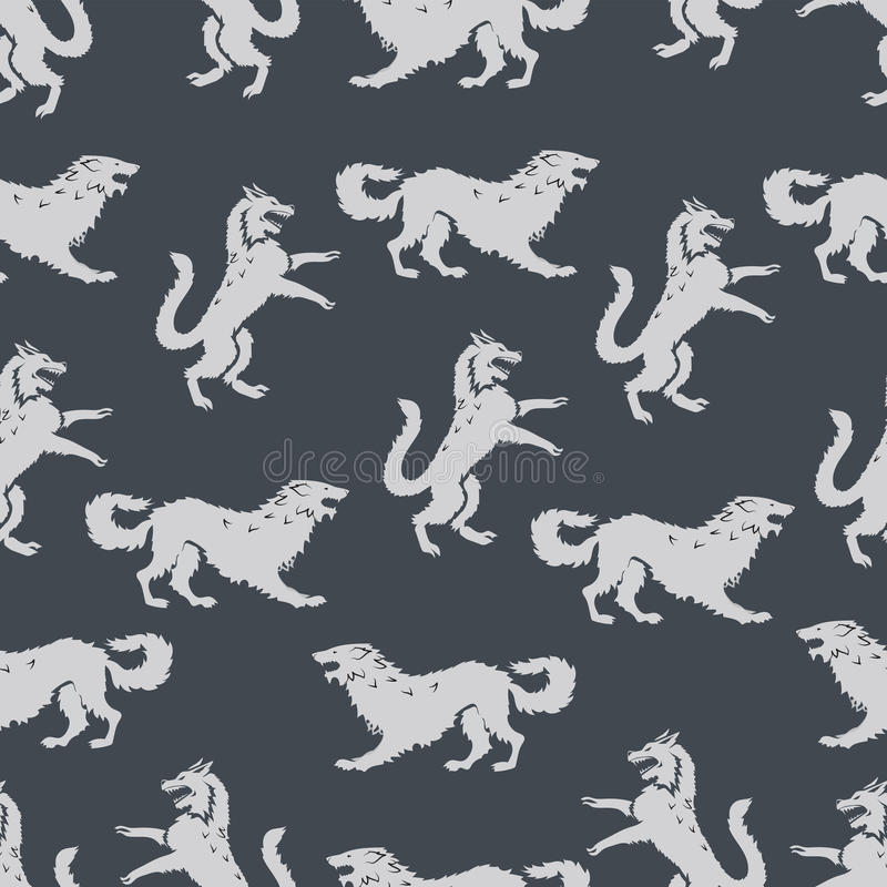 Seamless pattern with predators. vector illustration