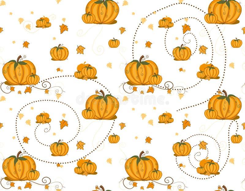 Seamless pattern - Pumpkins. On white
