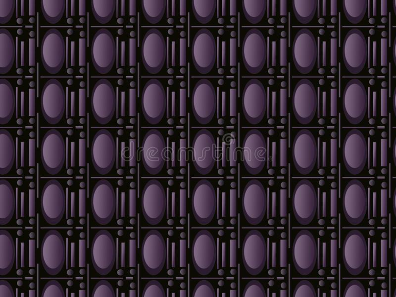 Seamless pattern of purple portholes. royalty free stock images