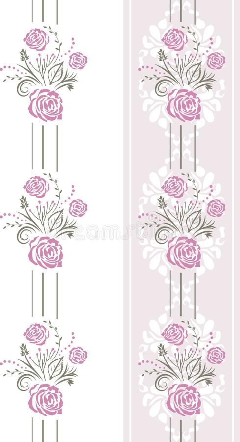 Seamless pattern with purple stylized roses royalty free stock photos