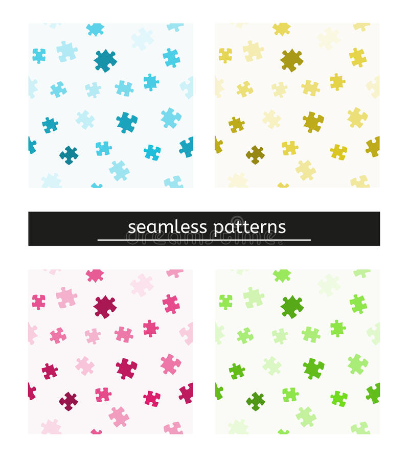 Seamless pattern with puzzle pieces royalty free illustration