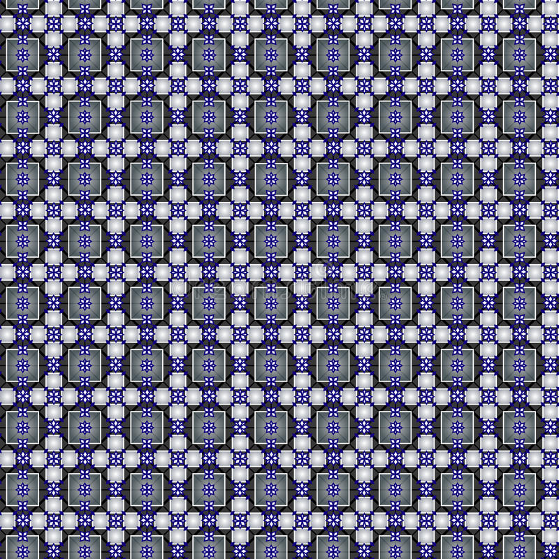 Seamless pattern with quares, rhombuses, crosses. vector illustration