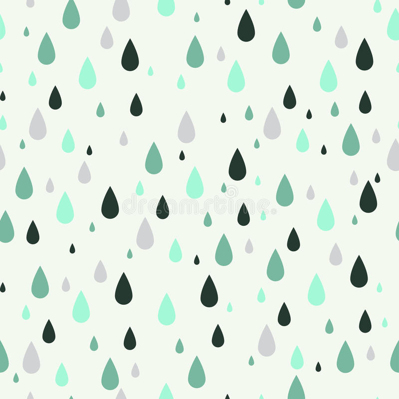 Seamless pattern with rain drops. Can be used to fabric design, wallpaper, decorative paper, web design, etc. Swatches of seamless patterns included in the vector illustration
