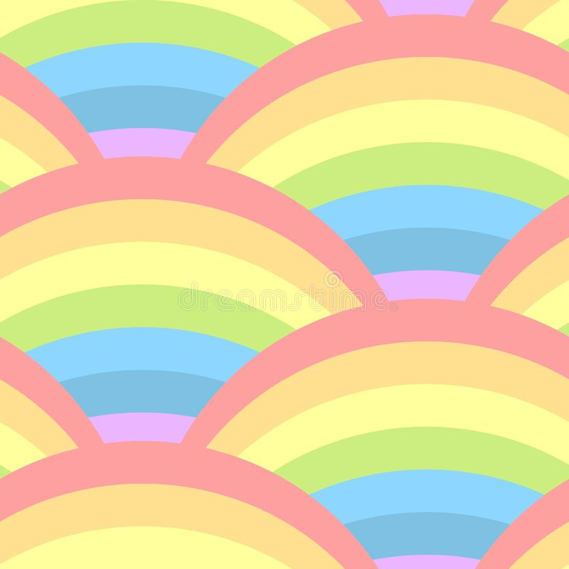 Seamless pattern with rainbow royalty free stock photography