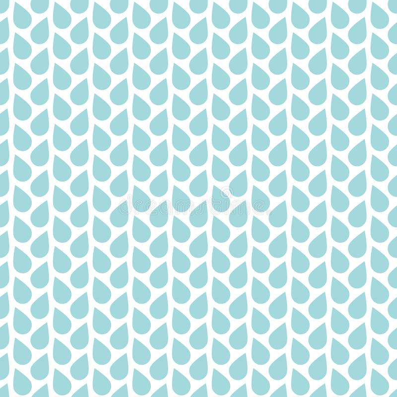 Seamless Pattern Raindrops Vertical Lines Blue And White stock illustration