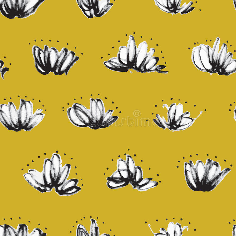 Seamless pattern with random marker scribbles royalty free illustration