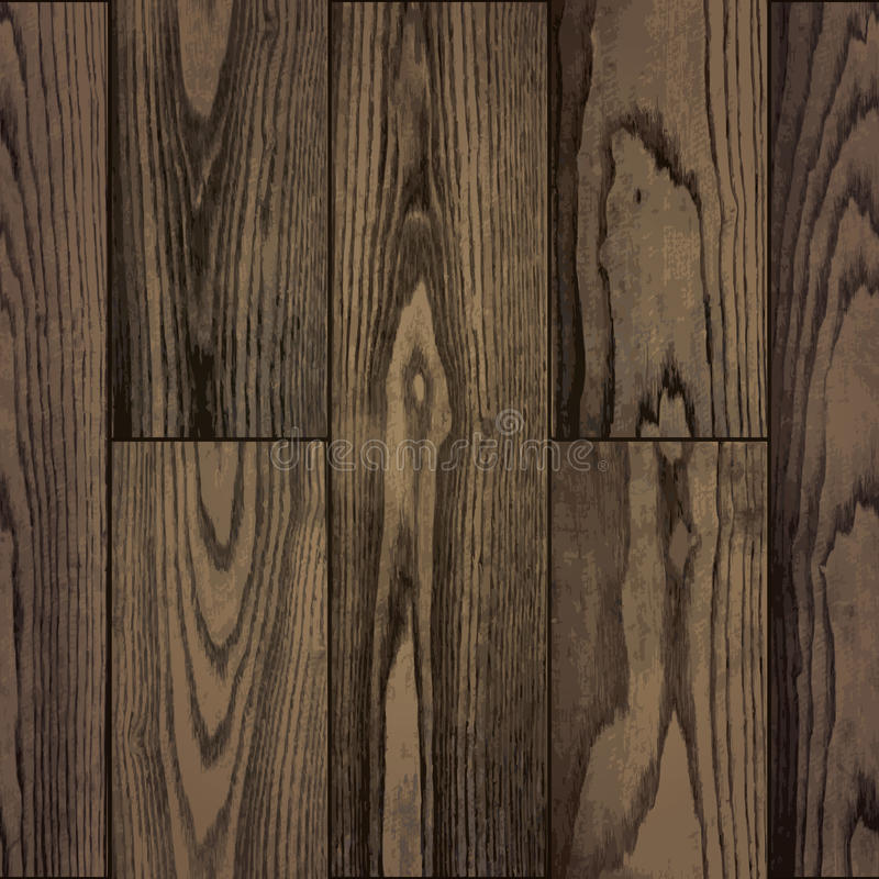 Seamless pattern of realistic natural plank wood texture royalty free illustration