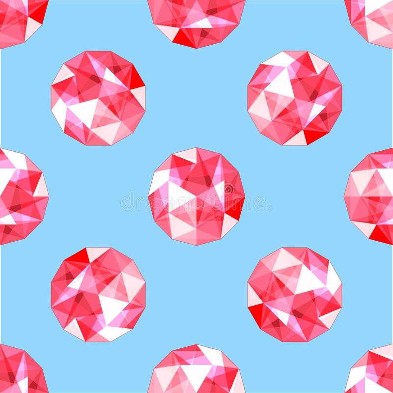 Seamless pattern of realistic red ruby gems. Vector illustration. Seamless pattern of realistic red ruby gems. Design vector illustration vector illustration
