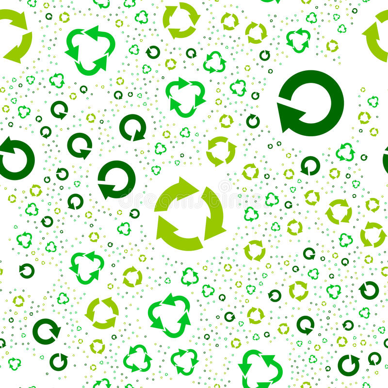 Seamless pattern with recycle symbols. stock photo