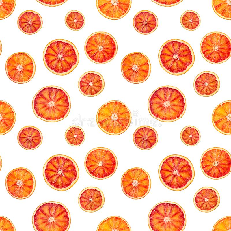Seamless pattern with red blood orange stock photography