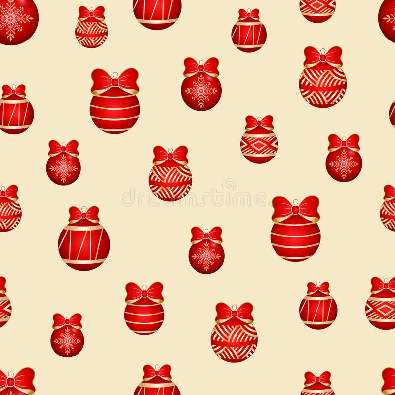 Seamless pattern of Christmas toys with patterns royalty free illustration