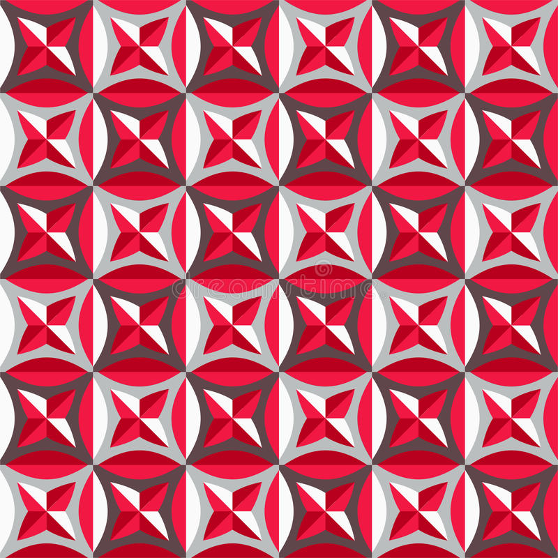 Download Seamless Pattern In Red Colors Stock Vector - Image: 37121188