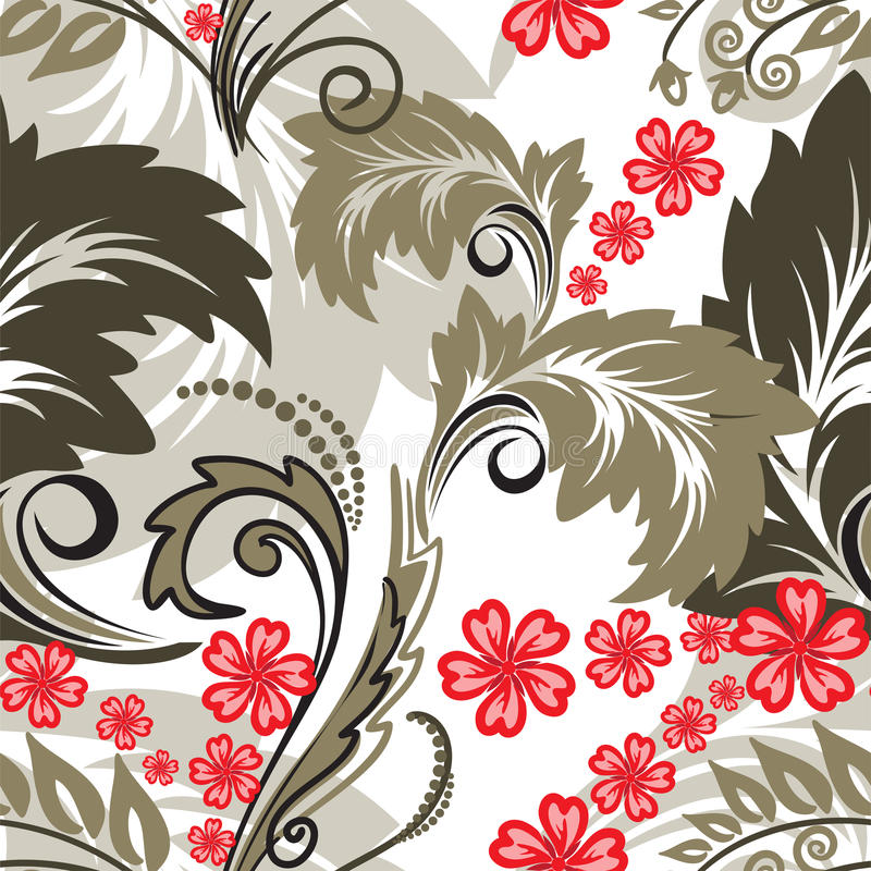 Download Seamless Pattern With Red Flowers Stock Vector - Illustration: 31767565