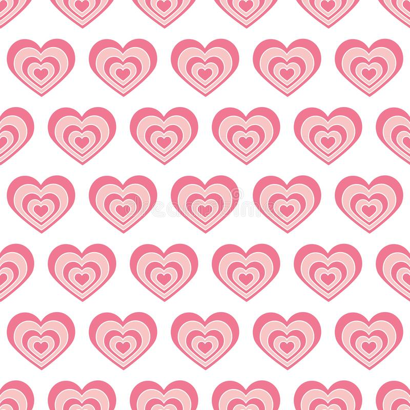Seamless pattern red heart in vector. Background for holiday lovers, Valentine s day, romantic, wedding. Concept of love royalty free illustration