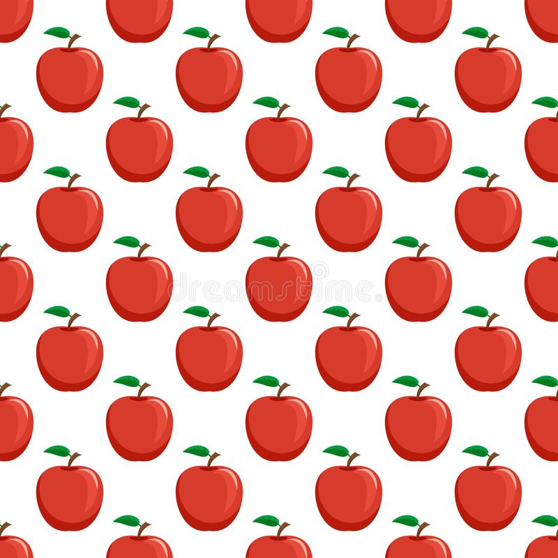 Seamless pattern from red ripe apples vector illustration