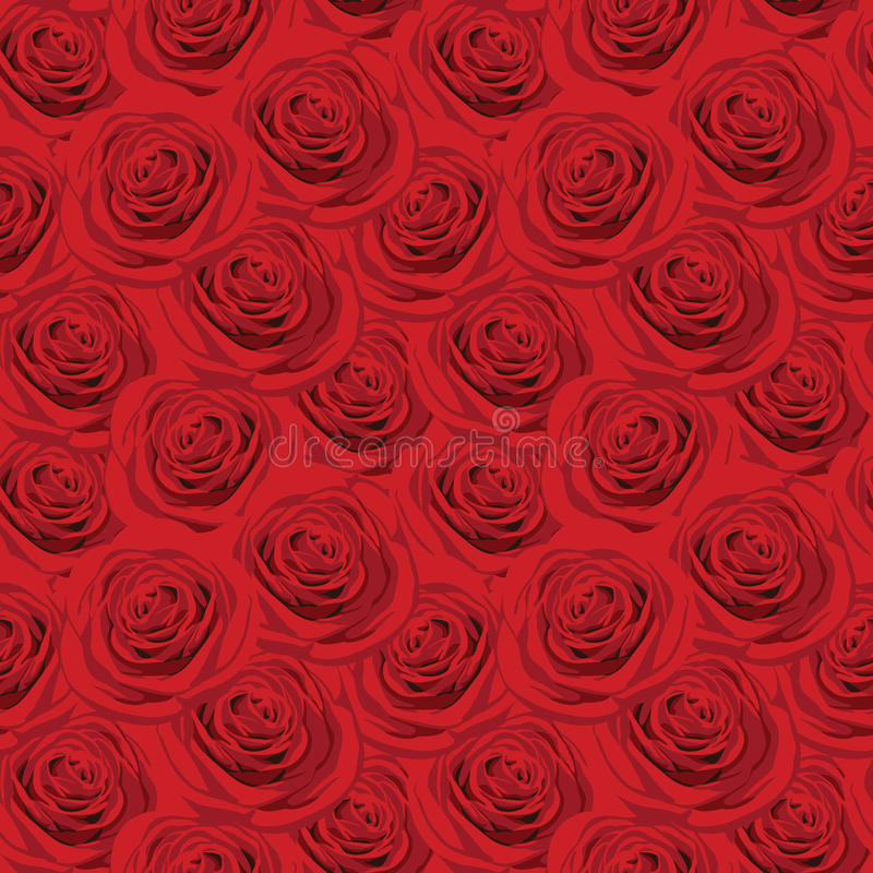 Download Seamless Pattern With Red Roses Royalty Free Stock Photography - Image: 21185227