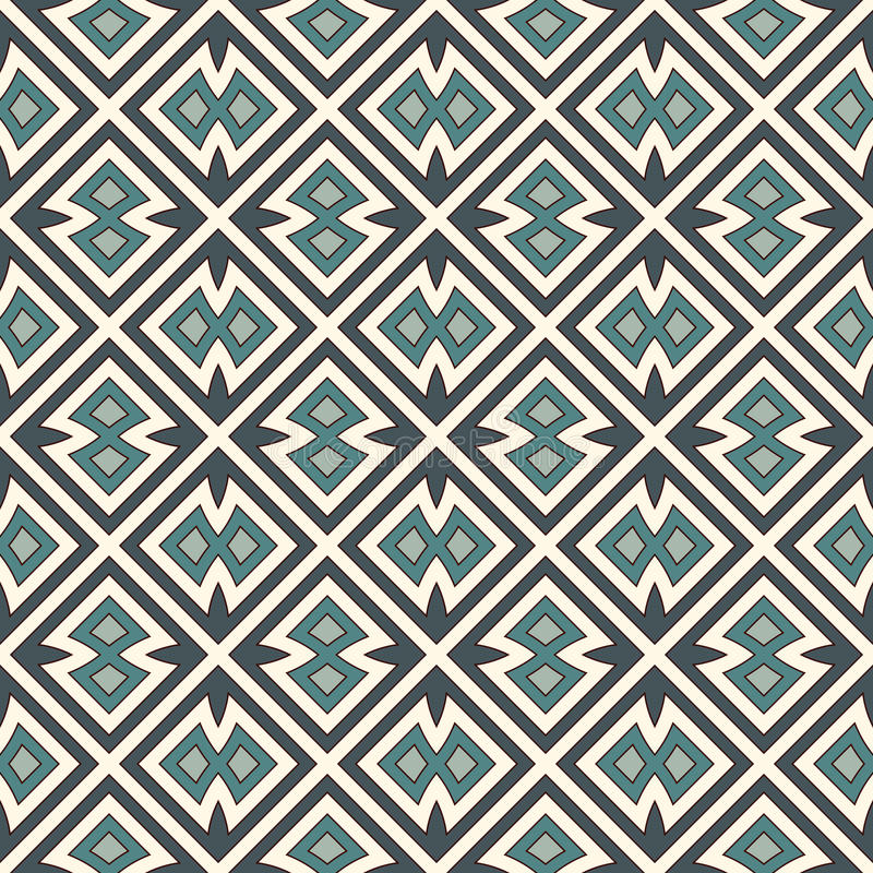 Seamless pattern with repeated geometric forms. Ornamental abstract background. Ethnic and tribal motifs. royalty free illustration