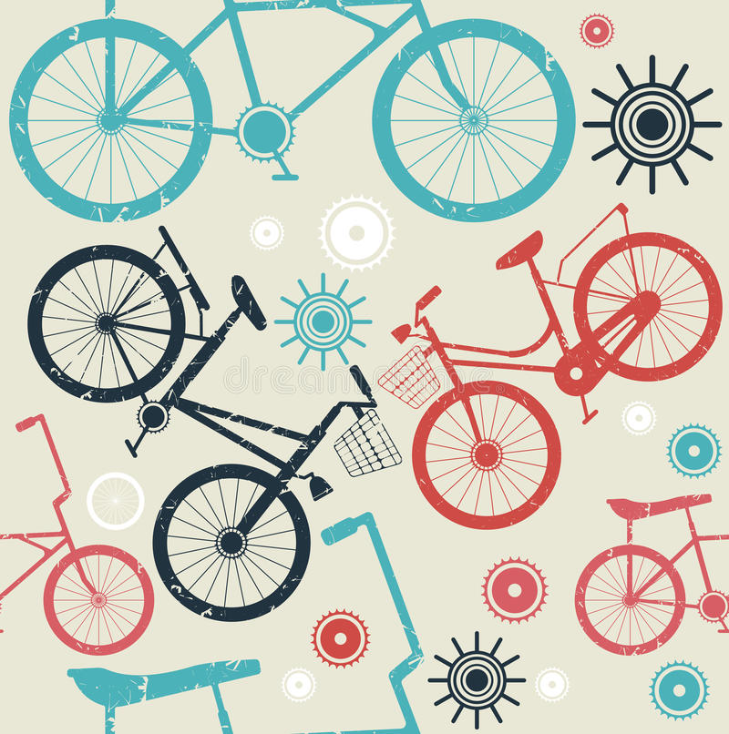 Seamless pattern with retro bicycles. Stylish seamless pattern with retro bicycles can be used for your creative ideas. Vecyor image vector illustration