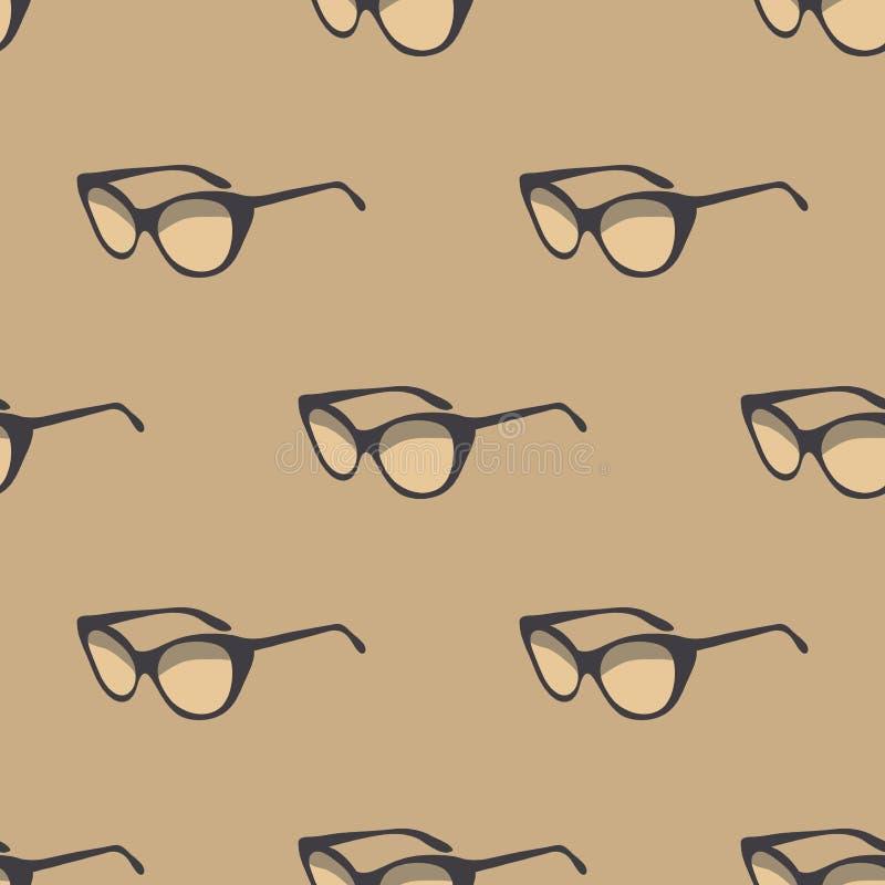 Seamless pattern with retro sunglasses. Vintage. royalty free stock photos
