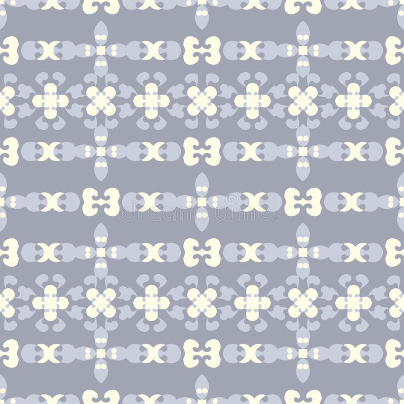 Seamless pattern retro, vintage. Blue jean, pale yellow and chocolate color. Pastel colors. Vector. stock photo