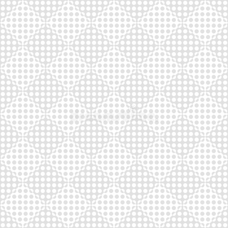 Seamless pattern of rhombuses and dots. Geometric background. royalty free illustration