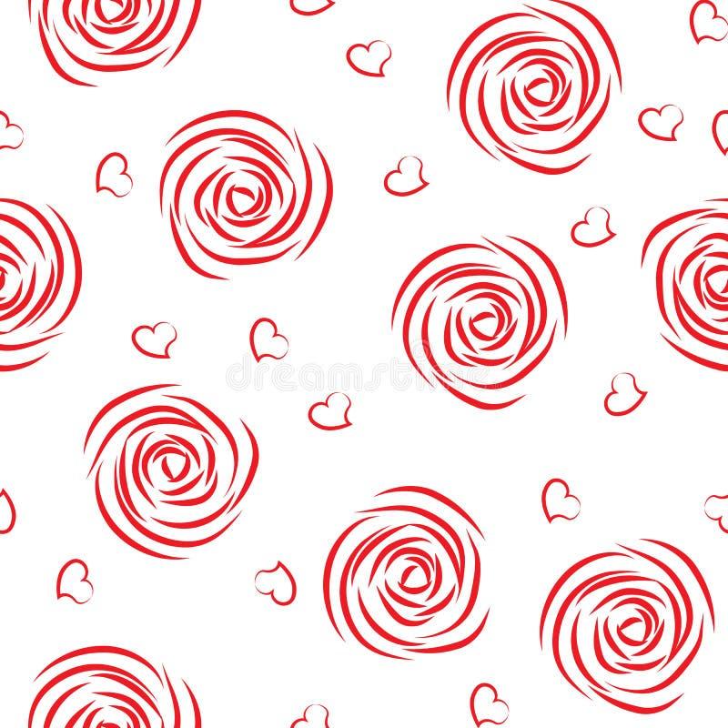 Download Seamless pattern of roses stock vector. Illustration of feminine - 24092990