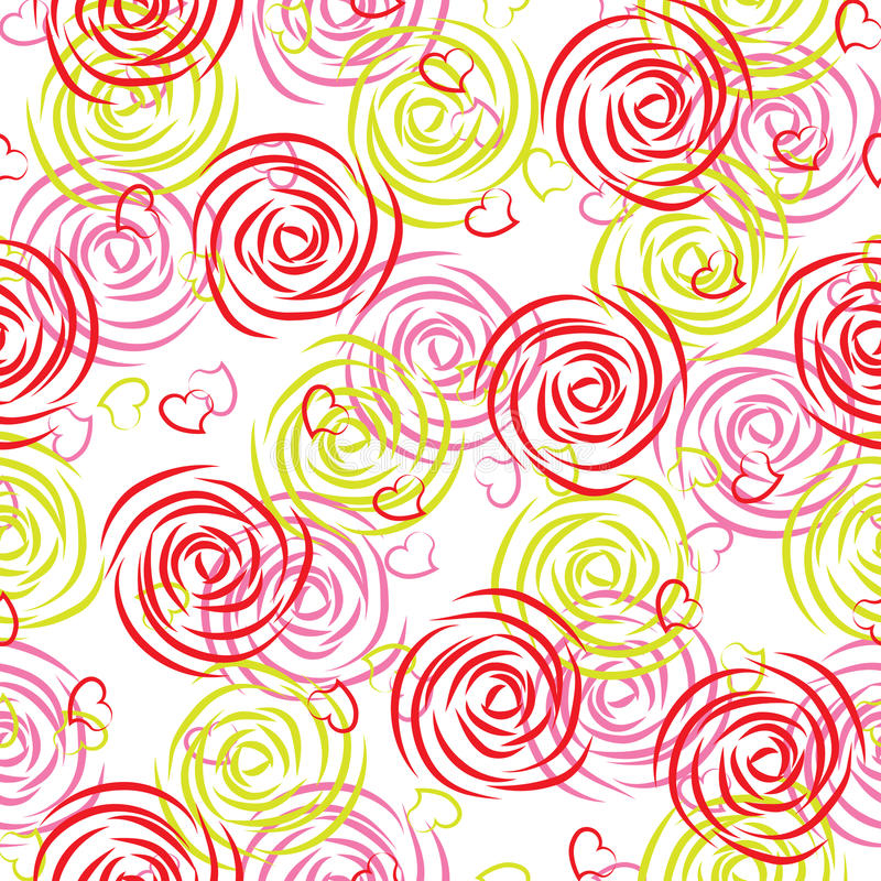 Seamless pattern of roses royalty free illustration