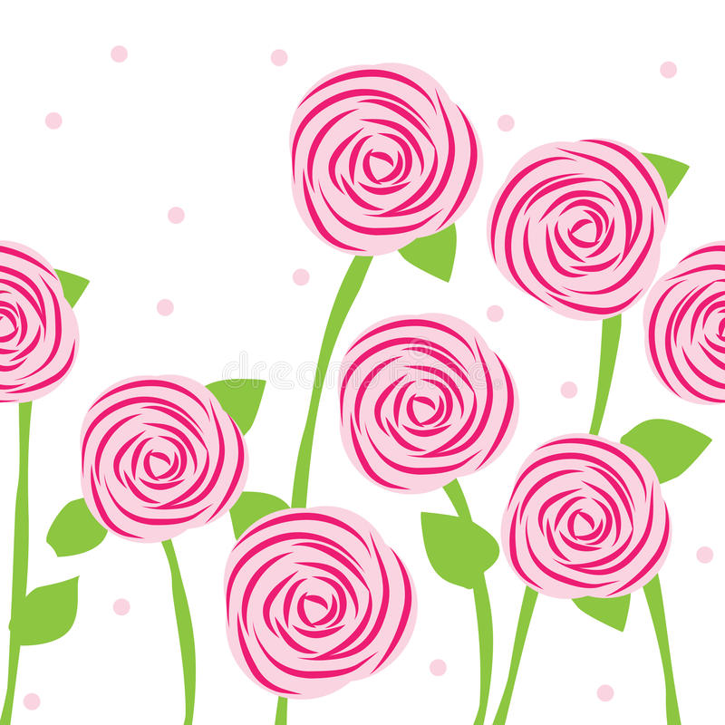 Download Seamless pattern of roses stock vector. Image of fabrics - 24092998
