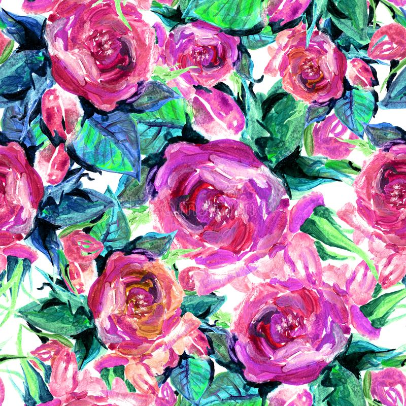Seamless pattern of roses royalty free stock images