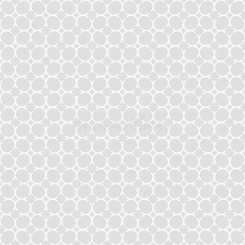 Seamless pattern of round lines and rhombuses. Geometric background. royalty free illustration