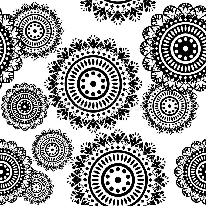Download Seamless Pattern Of Round Ornaments Stock Vector - Image: 19053137
